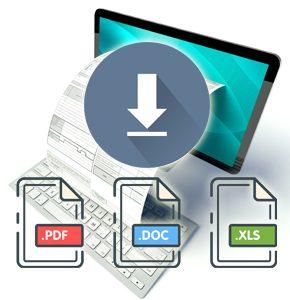 Word-excel-pdf format